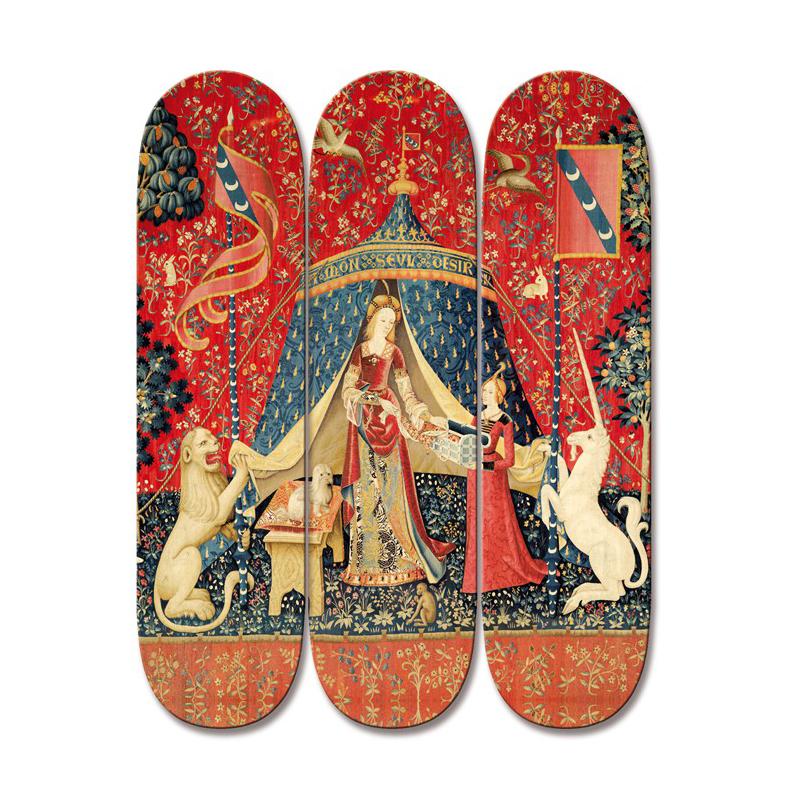 Dame à la licorne – Skateboards box par Boom-art