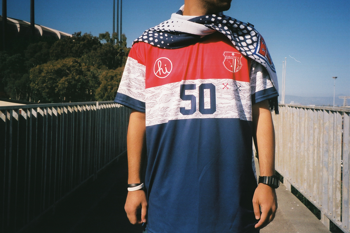 "Paradise Soccer Club x In4mation 2014 ""Merica"" Collection été"