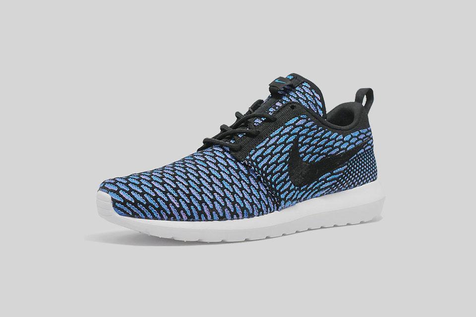 Nike Flyknit Roshe Run «Black / Neon Turquoise»