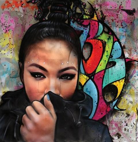Graff Affiche Summer in the city Brok & Alex