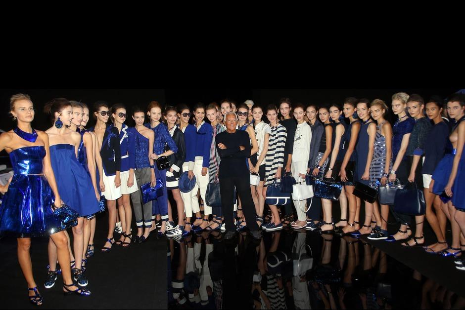 Armani voit la vie en bleu pour Emporio Armani !