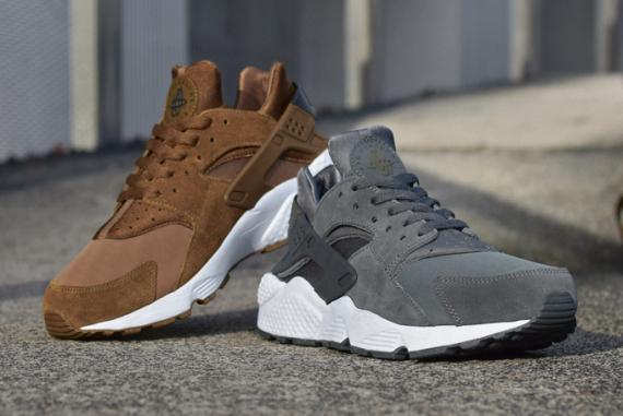 La Nike Air Huarache en version «Umber brown» et «Dark grey»