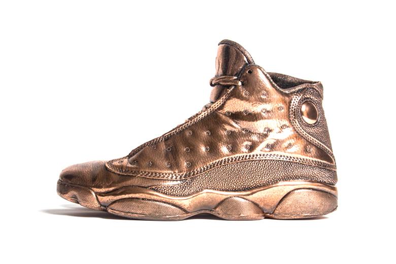 La superbe Air Jordan XIII en bronze, par Matthew Senna