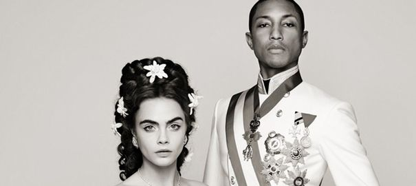 pharrell williams car delevingne pour chanel