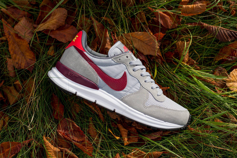 Nike Lunar Internationalist Wolf Grey/Team Red-Daring Red