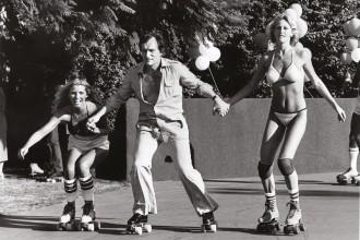 Hugh & Cooper Hefner Playboy Mansion