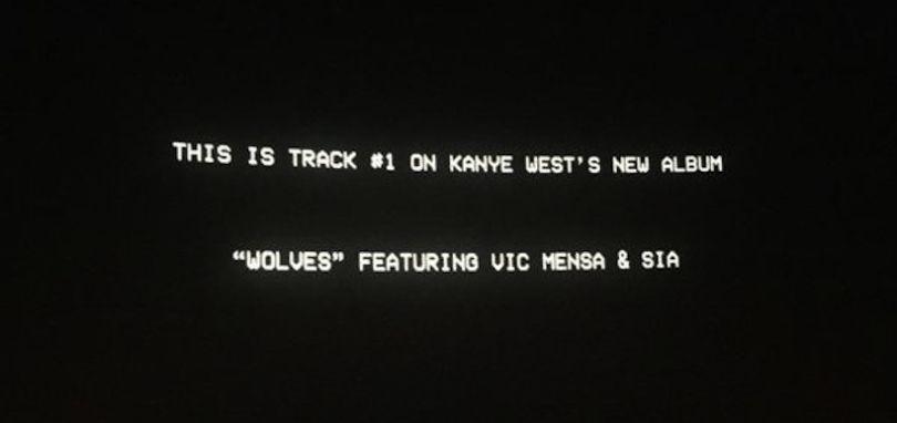 Kanye West Ft. Vic Mensa & Sia «Wolves»