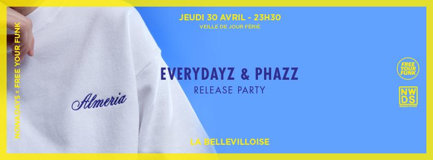 Concours : gagnez vos places la Everydayz and Phazz release party