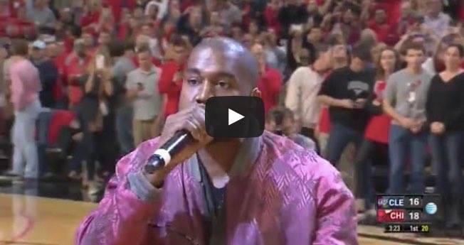 "Kanye West interprète ""All Day"" au match Chicago Bulls contre Cleveland Cavaliers"