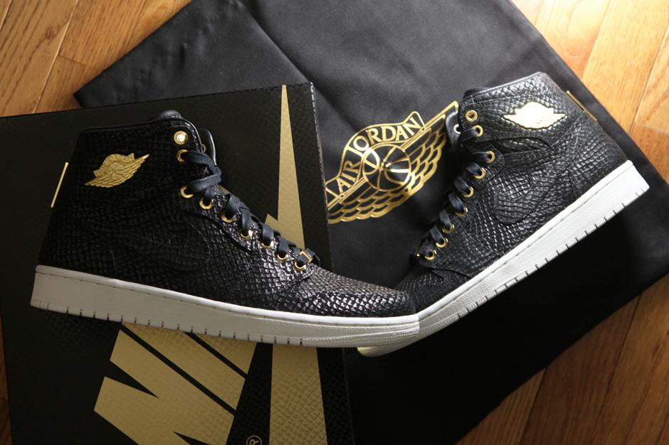 Air Jordan 1 «Pinnacle» Black/Metallic Gold et White/Metallic Gold