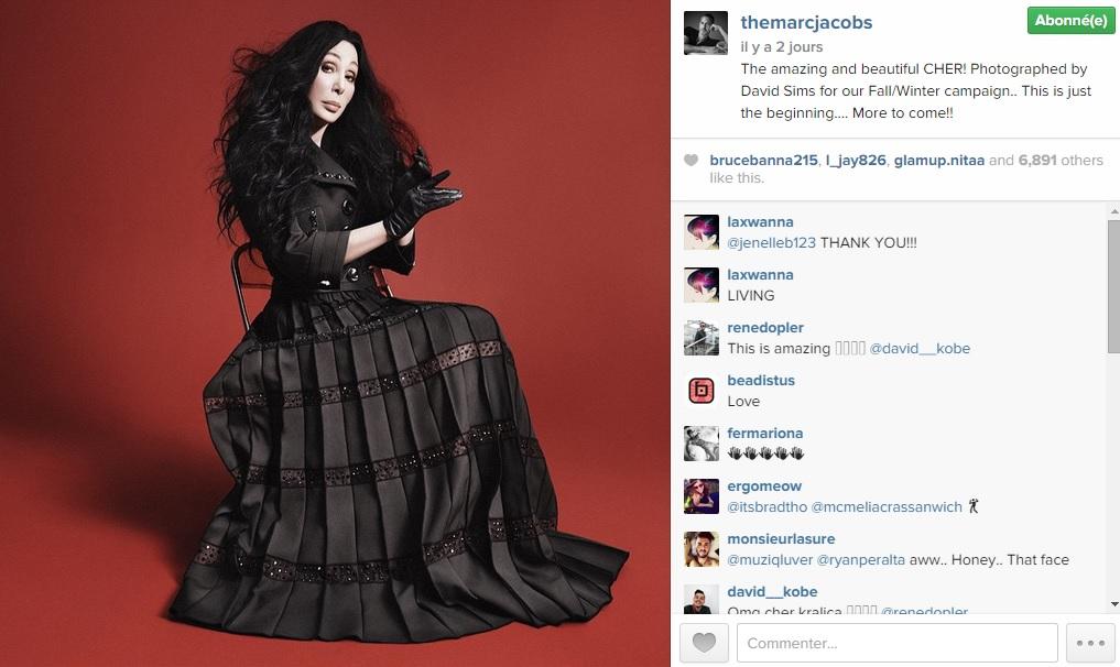 Cher, nouvelle égérie de Marc Jacobs