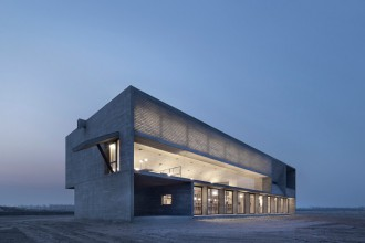 Vector architects librairie en bord de mer