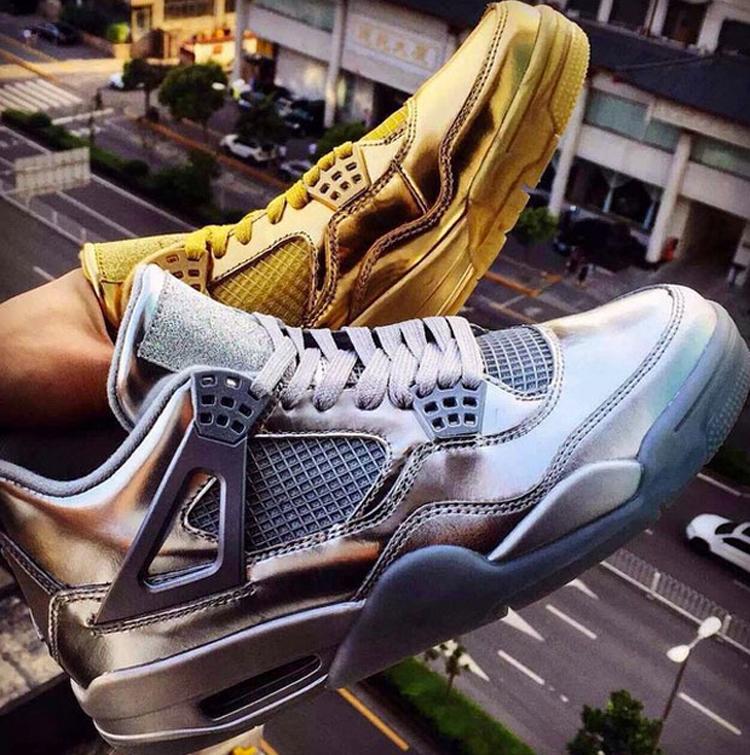 Un bain d'or & d'argent pour la Air Jordan 4