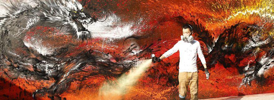 Sunday's Street Art #3 : Hua Tunan
