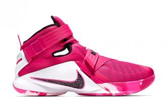 """Nike LeBron Soldier 9 """"Think Pink"""" : une sneakers pour la bonne cause"""