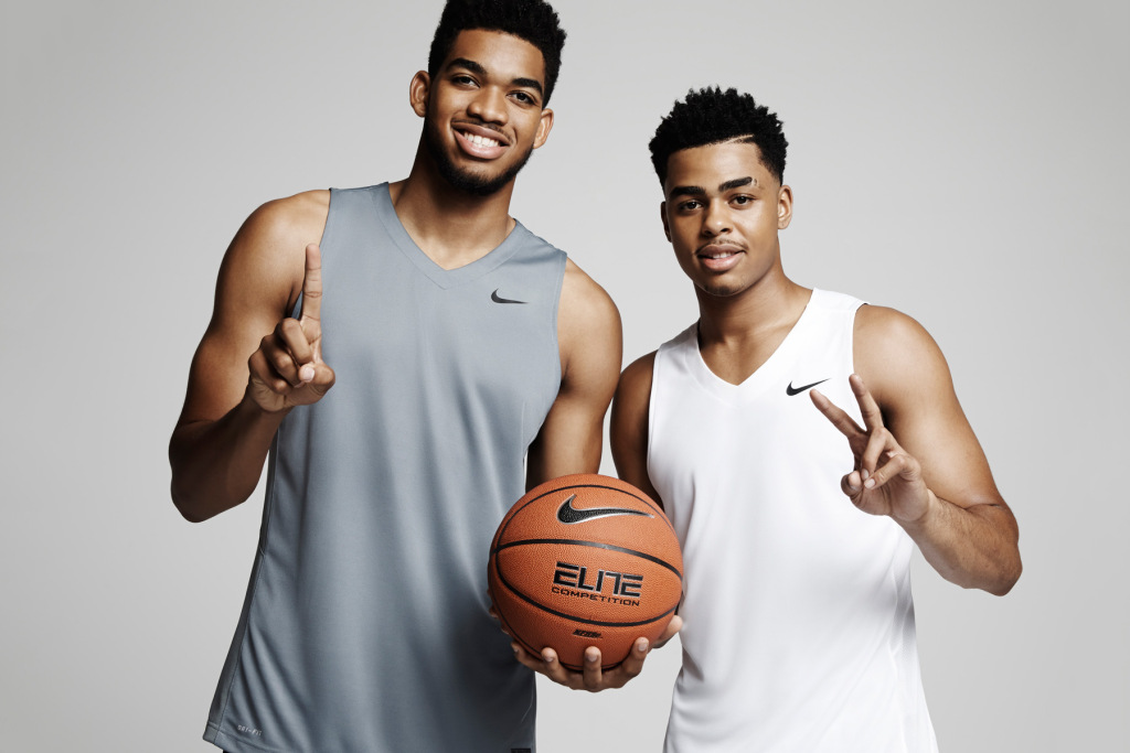 Nike Basketball signe Karl-Anthony Towns et D'Angelo Russell