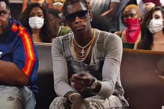 Young Thug en featuring avec Gucci Mane dans le clip «Again»