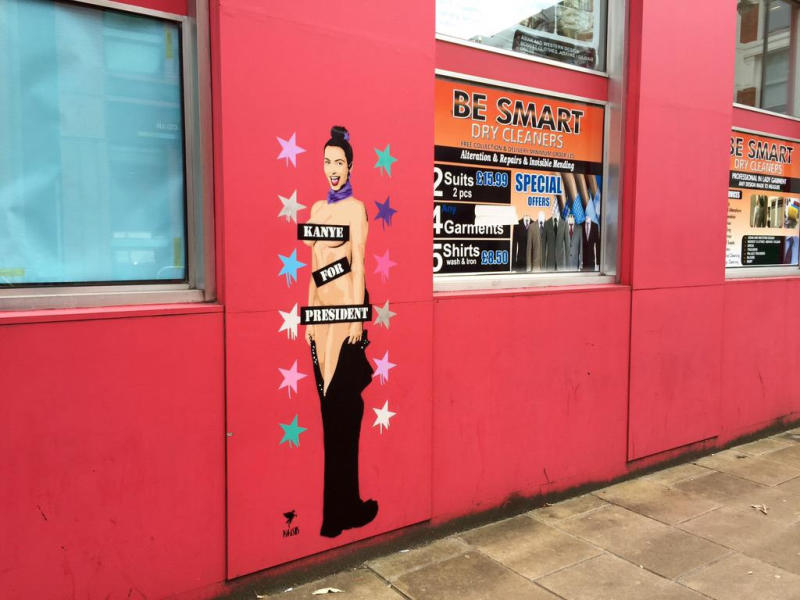 Quand un street artist lance la campagne présidentielle de Kanye West