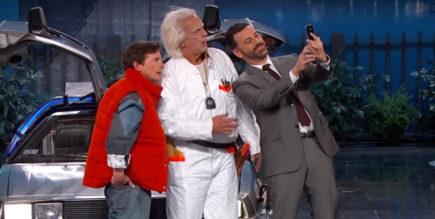 Marty Mc Fly & Doc arrivent du passé chez Jimmy Kimmel