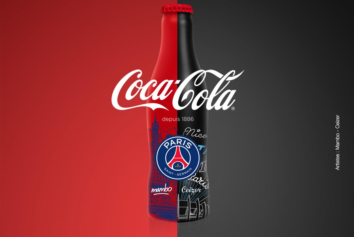 Le PSG et Coca Cola collaborent pour une bouteille évènement