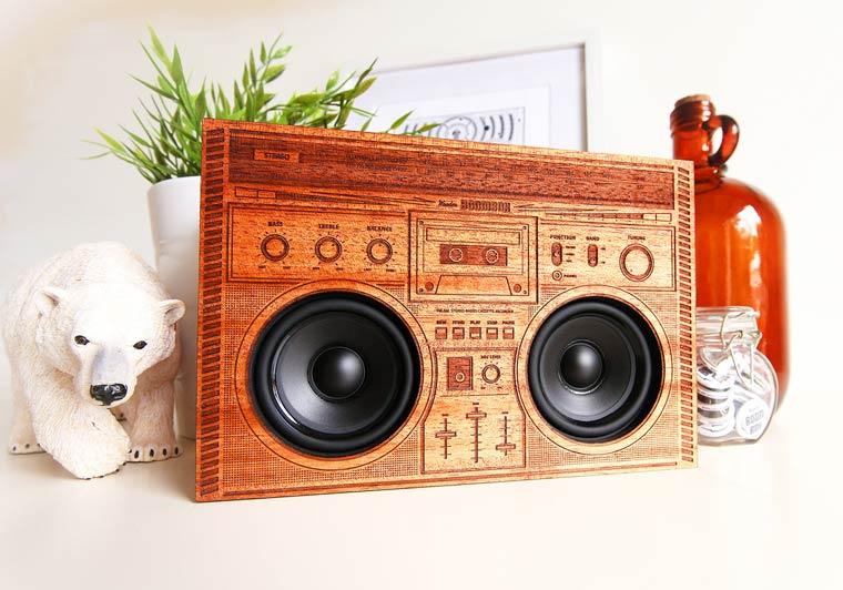 Wooden Boombox – Ghetto-blasters 2.0 en bois