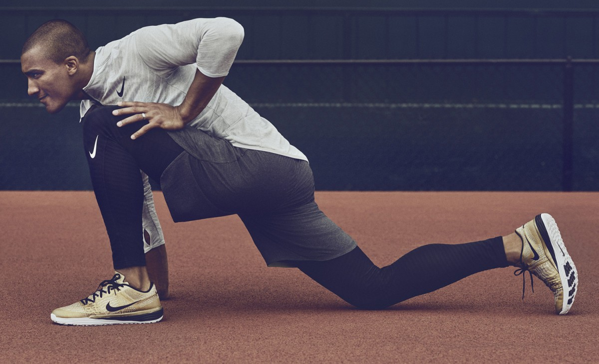 Nike brille avec sa Lunar Caldra » Gold «
