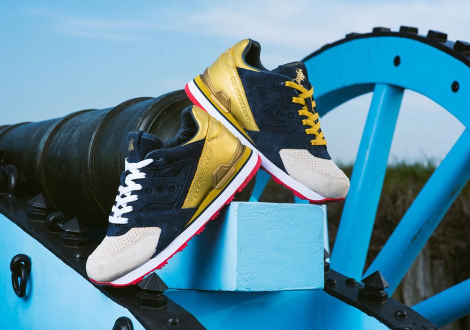 Saucony x Sneaker Politics : une nouvelle Courageous «The Jackson»