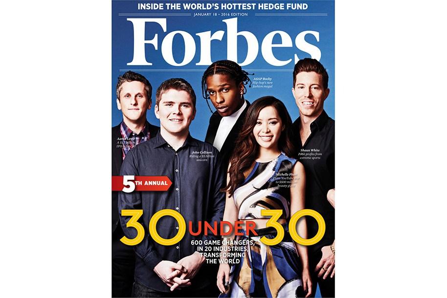 A$AP Rocky, Stephen Curry, Fetty Wap dans le Forbes «30 Under 30» de 2016