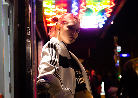 Editorial : Adidas vintage & Pigalle lights