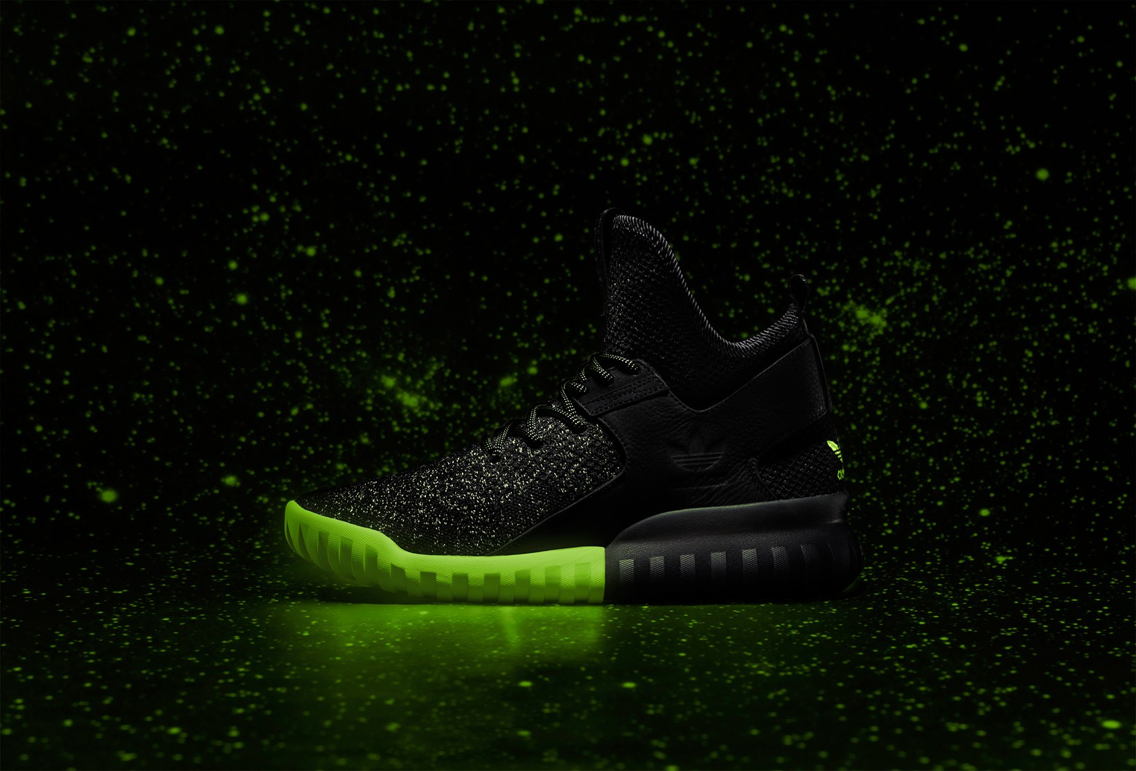 Une édition lumineuse de l'Adidas Tubular Primeknit