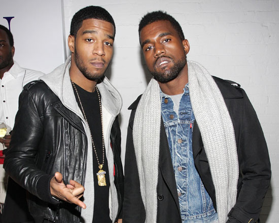 Kanye West en studio avec Kid Cudi pour Turbo Grafx 16