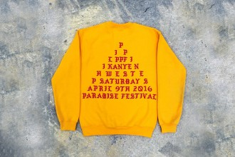 Aperçu de la collection proposée par Kanye West au Paradise Music Festival