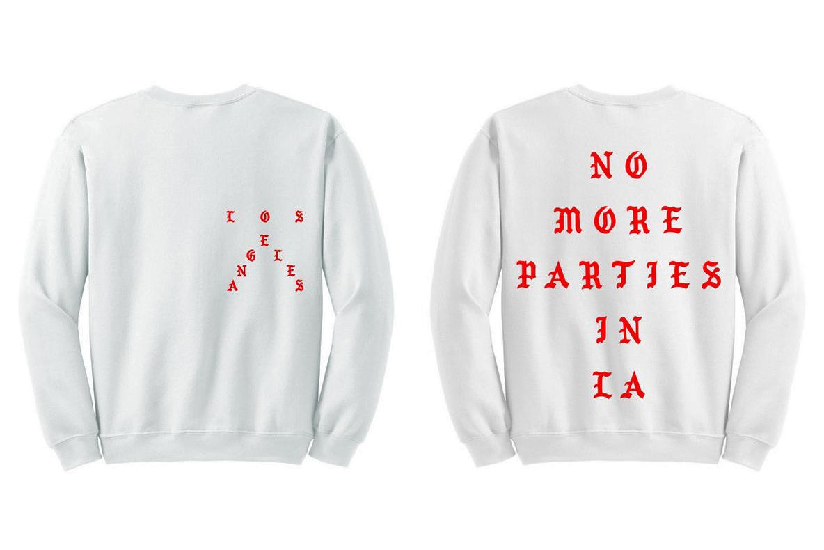 Le nouveau sweatshirt de Kanye West «No More Parties In L.A»