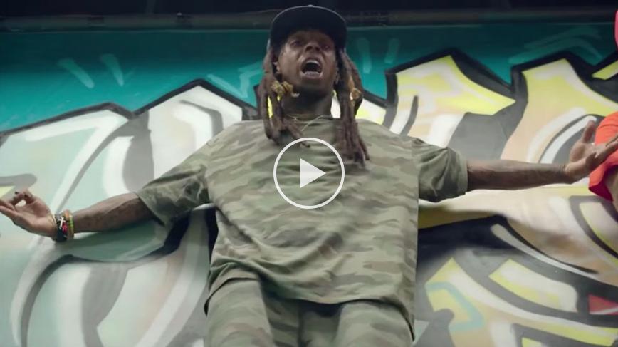 Lil Wayne sort sa board pour son nouveau clip «Skate It Off»