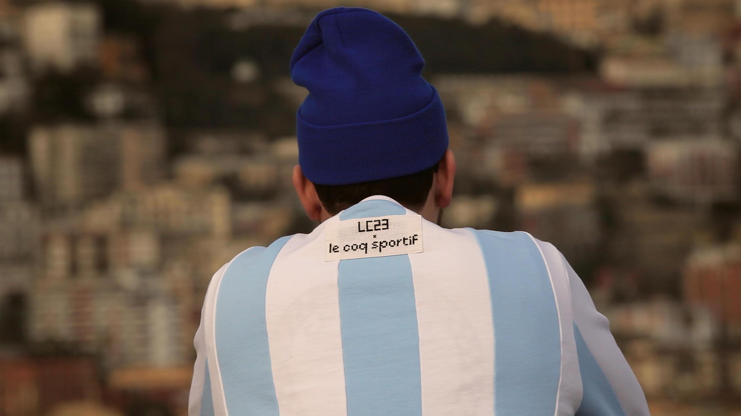 """Collaboration inédite pour Le Coq Sportif x LC23 qui offrent un pack """"Argentina"""""""