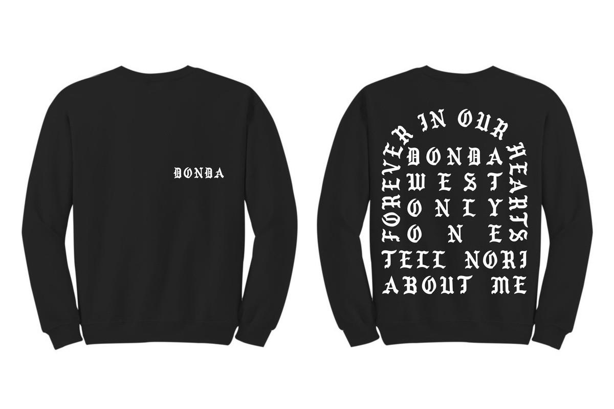 Kanye West laisse parler son coeur sur un nouveau sweatshirt