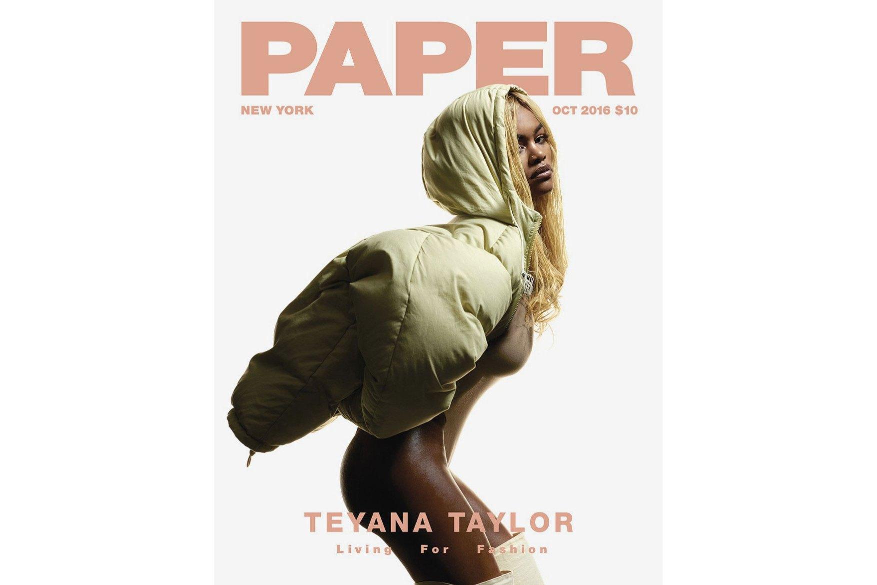 Teyana Taylor nue pour le magazine PAPER