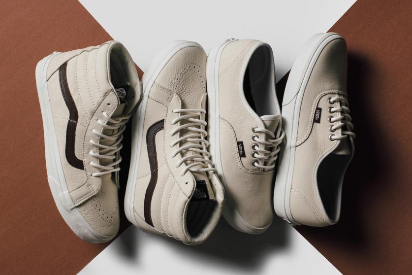 La sublime collection Vans en cuir «Blanc de Blanc» enfin dévoilée