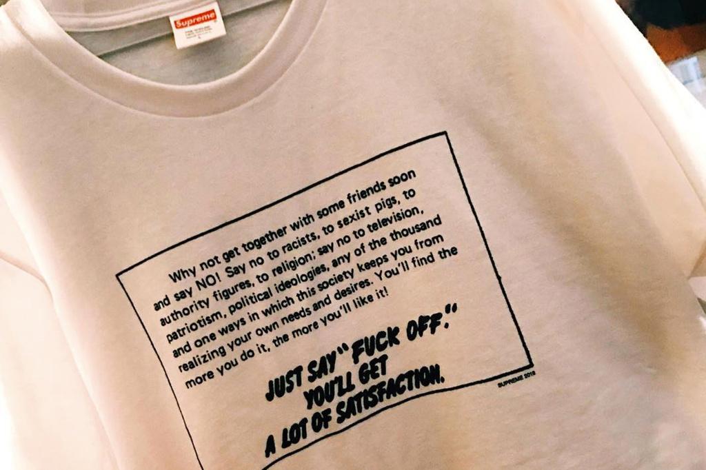 Supreme s'engage contre le racisme, le sexisme et la société avec ce nouveau t-shirt