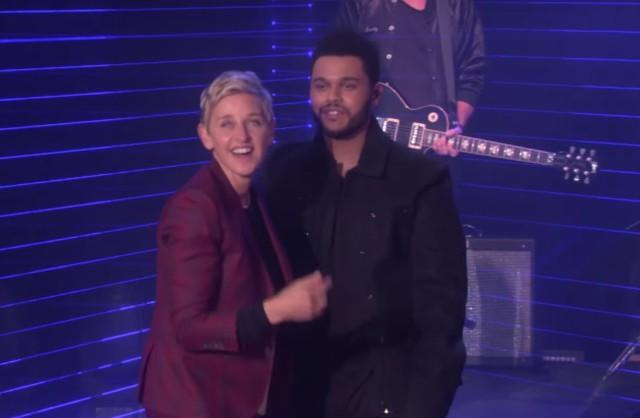 The Weeknd nous a donné des frissons sur la scène d'Ellen Degeneres