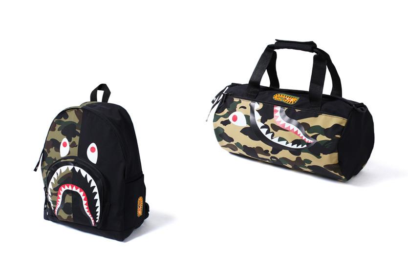 Bape dévoile deux nouveaux sacs de voyage Camo Shark