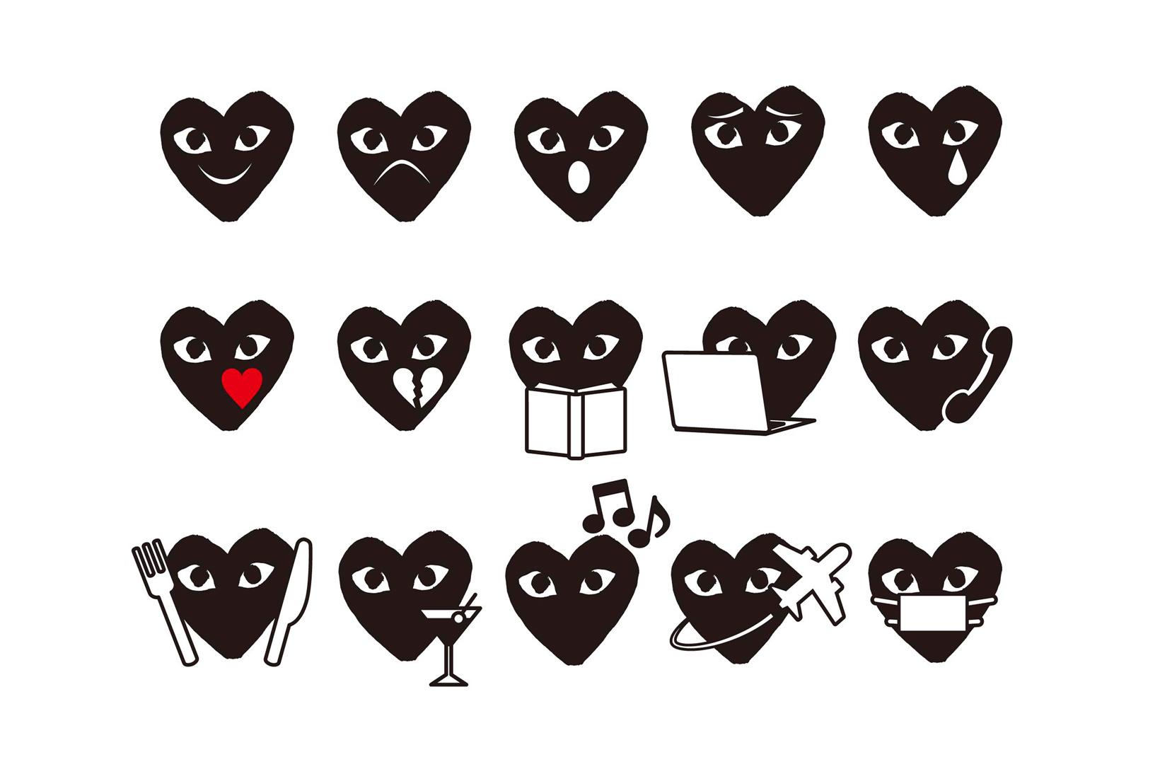 Comme des Garçons lance une large série d'emojis pour les vacances d'hiver