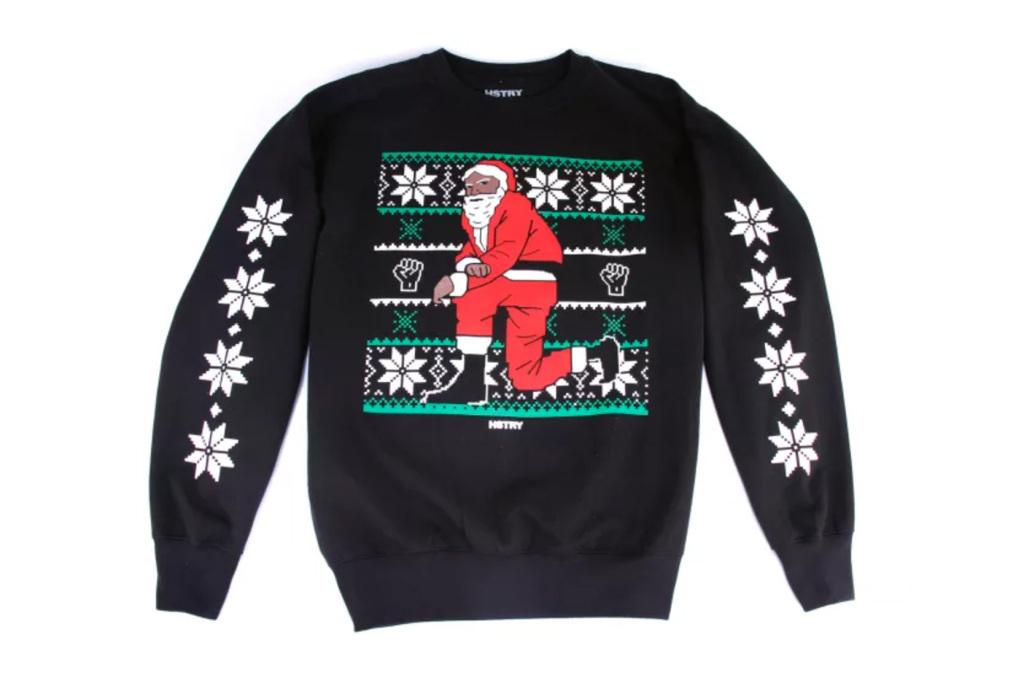 Nas lance une collection de sweats «Kneerling Santa» pour Noël